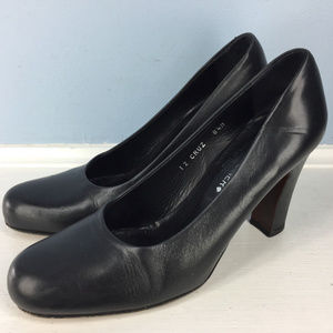 Donald J Pliner Black Leather Cruz 8.5 M Heels